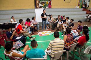 Círculo de personas en el I Encuentro Nacional de Cultura Viva en El Salvador. Junio de 2015